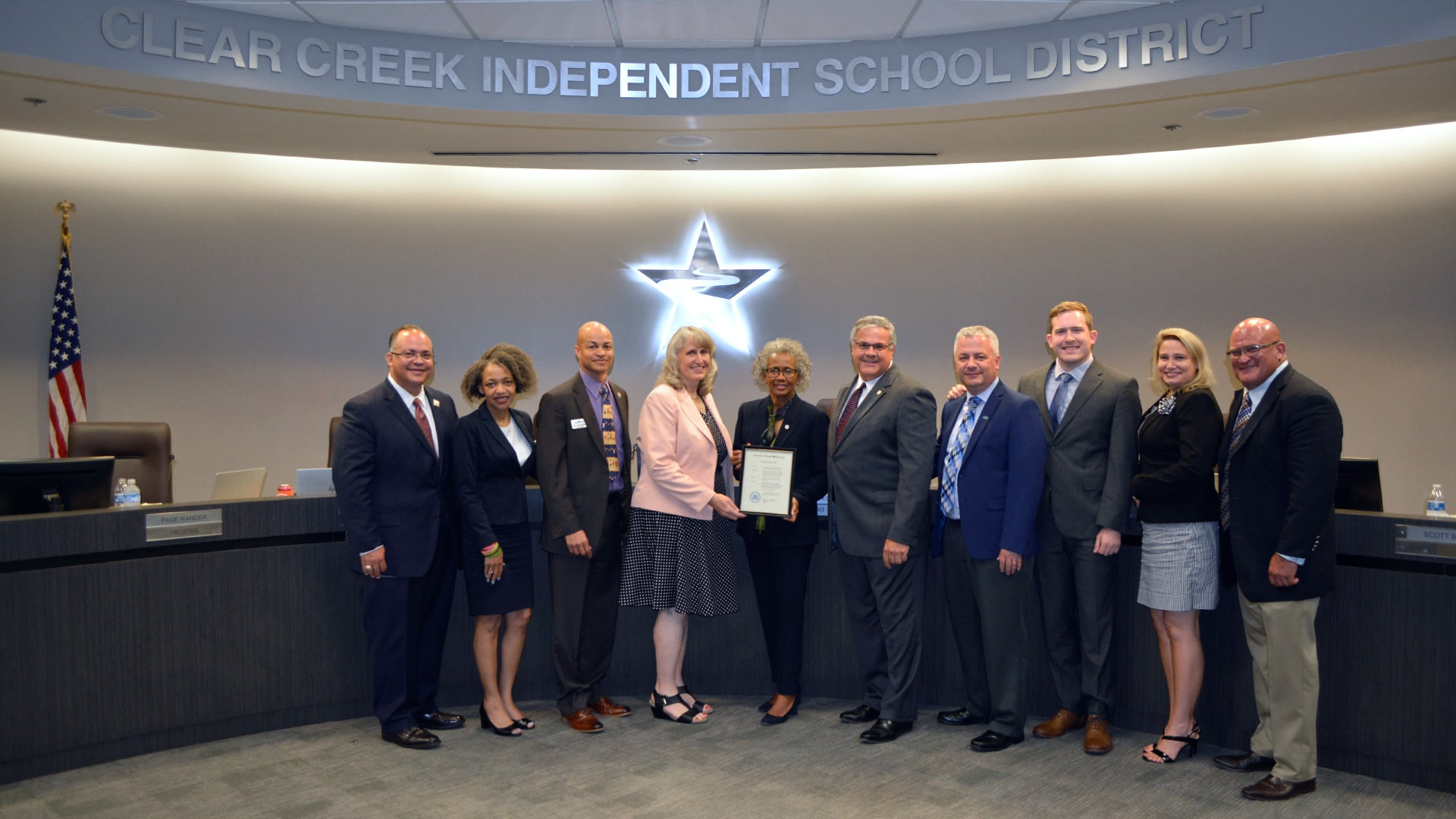 UHCL recognizes CCISD for 70th anniversary