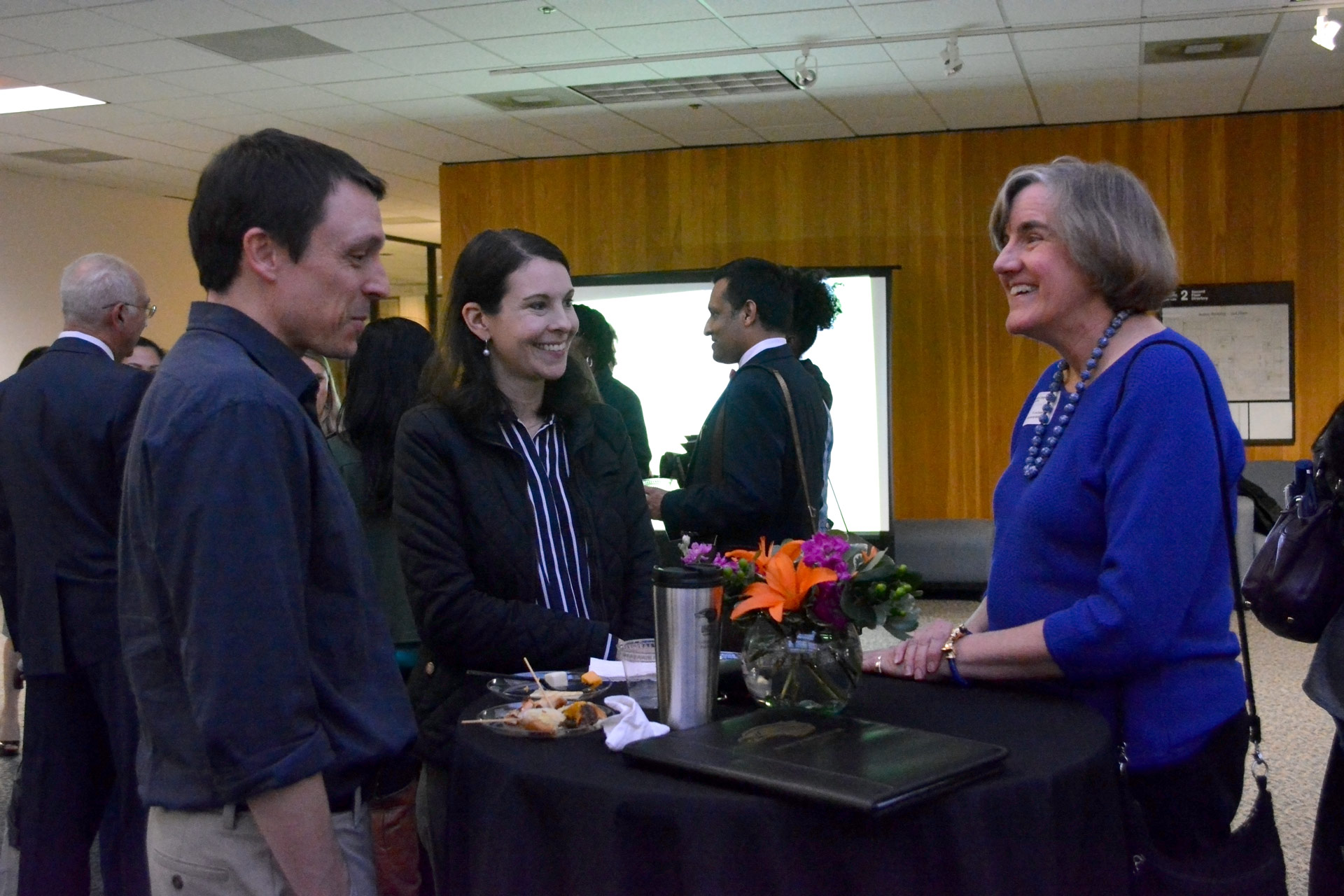 Incoming College of Business graduate students meet, network
