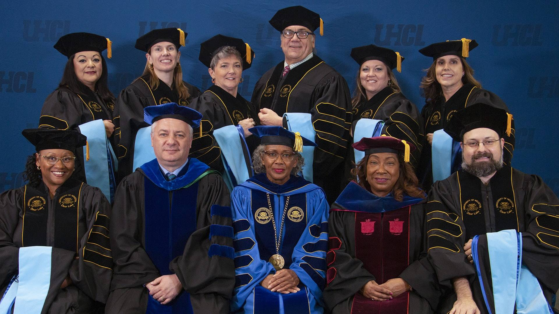 Eight students receive doctorates at UHCL fall 2019 commencement