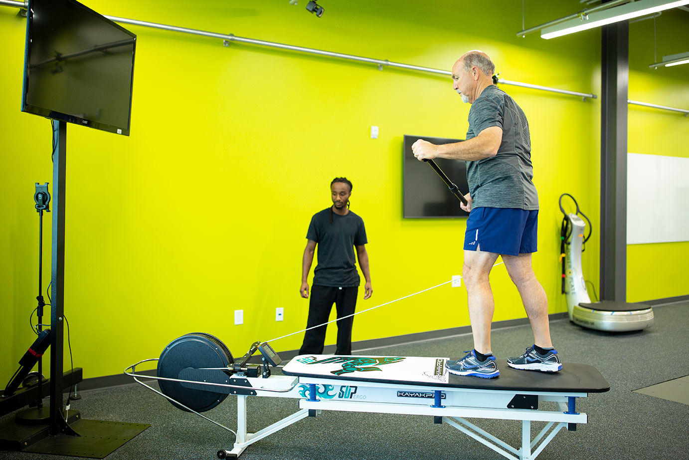 CLASP lecture on senior exercise includes visit to UHCL's new health institute