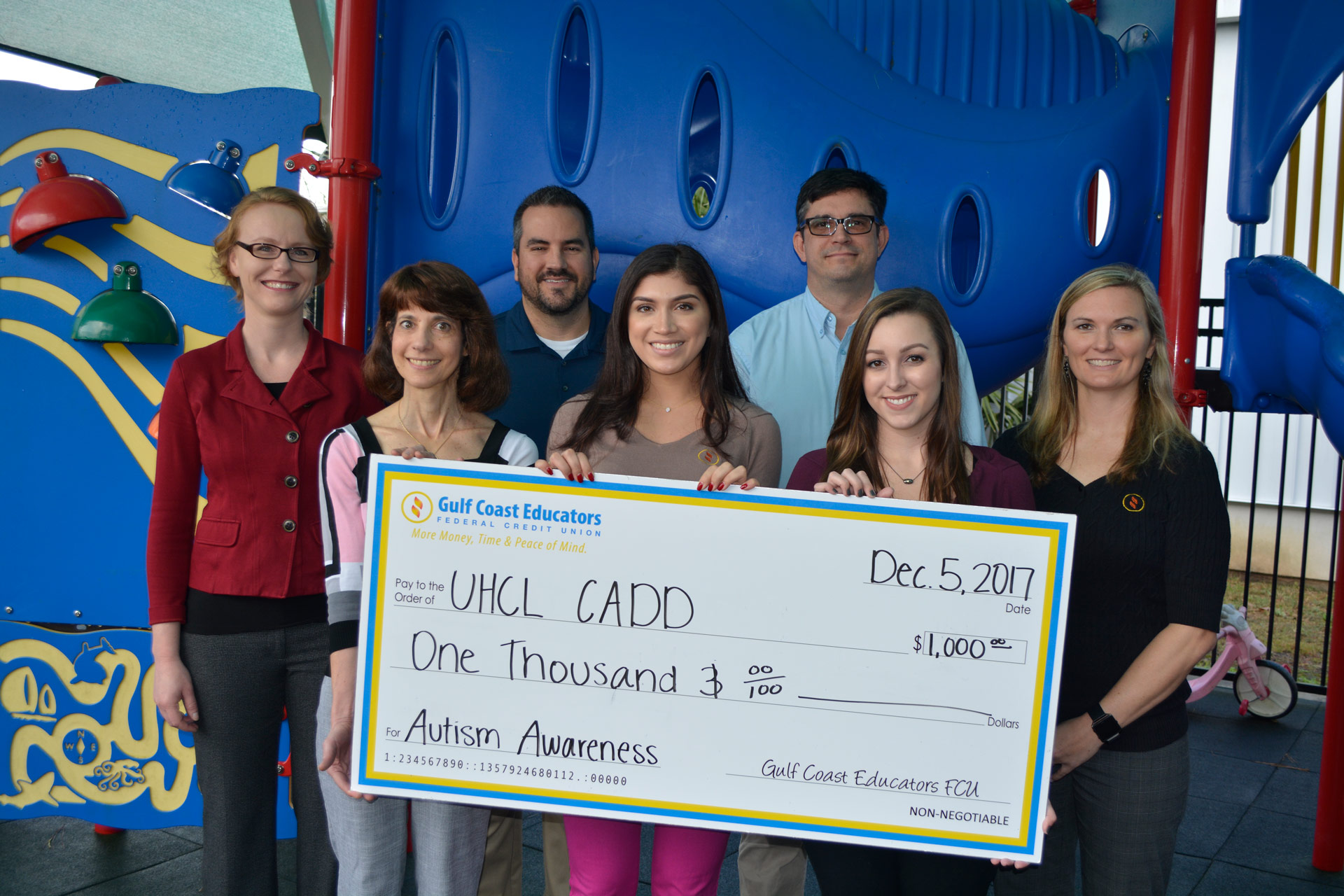 Credit union employees' annual tradition: gift to CADD