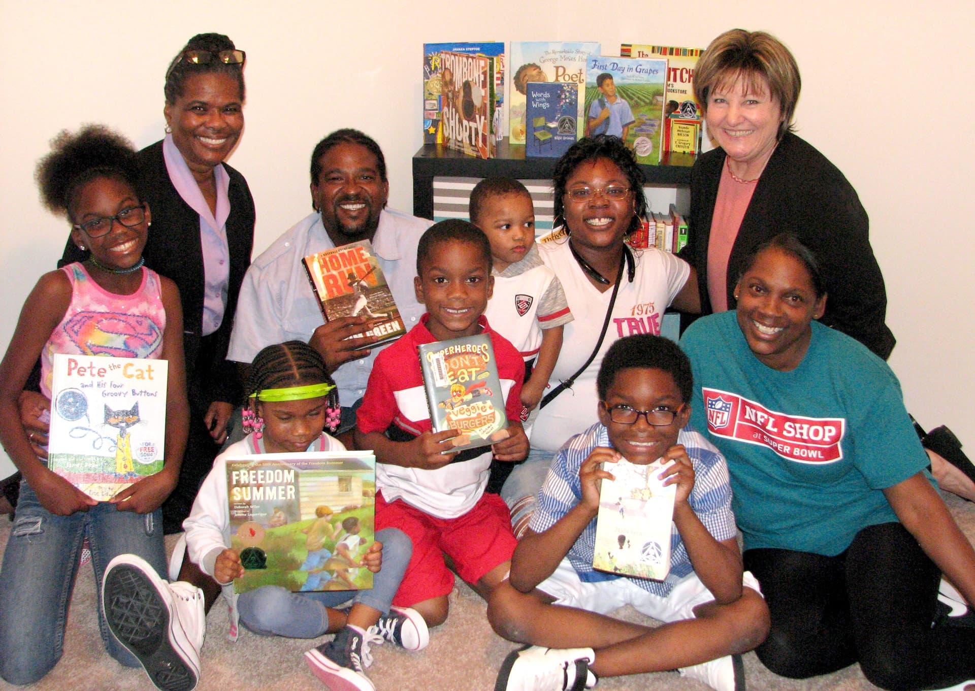 Habitat home family receives children's library from UH-Clear Lake