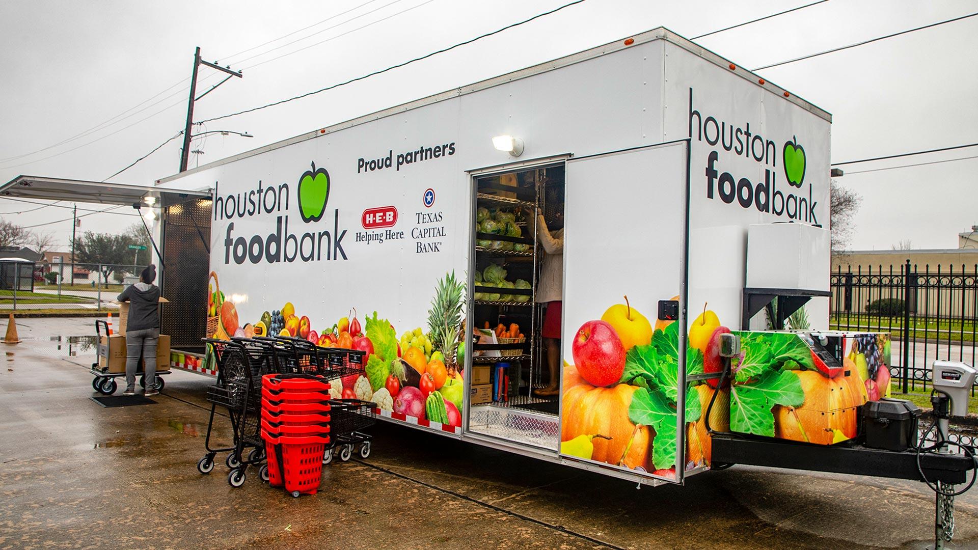 The Houston Food Bank distribution trailer