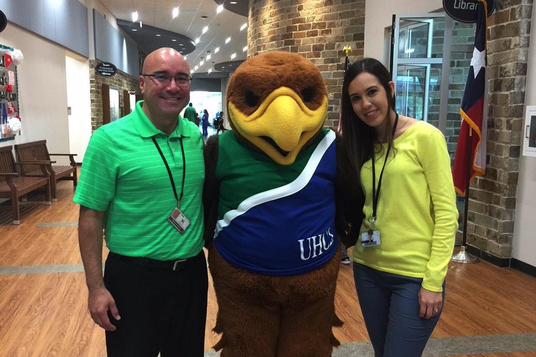 Hunter the Hawk visits CCISD school to kick off Generation Texas Week
