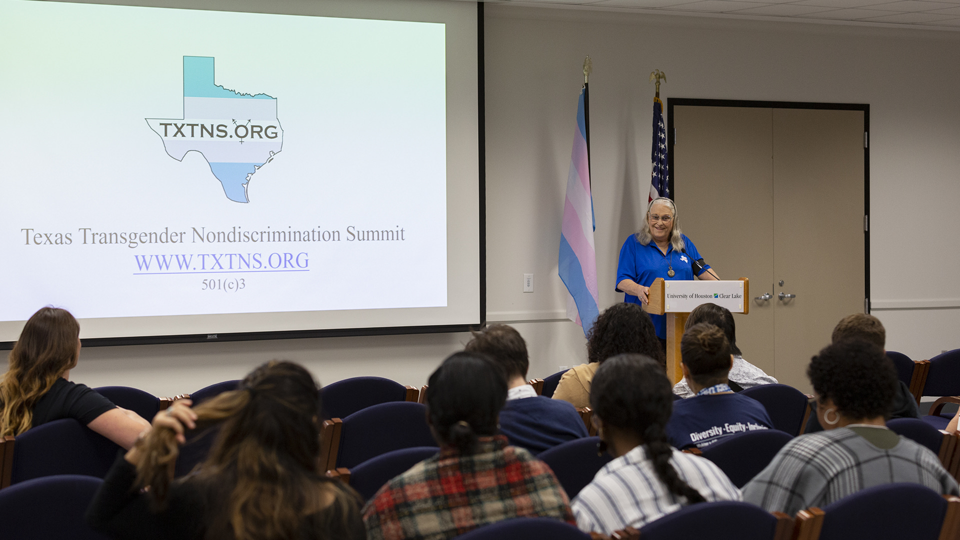 Alum returns to campus to lead support, advocacy for Texas transgender community