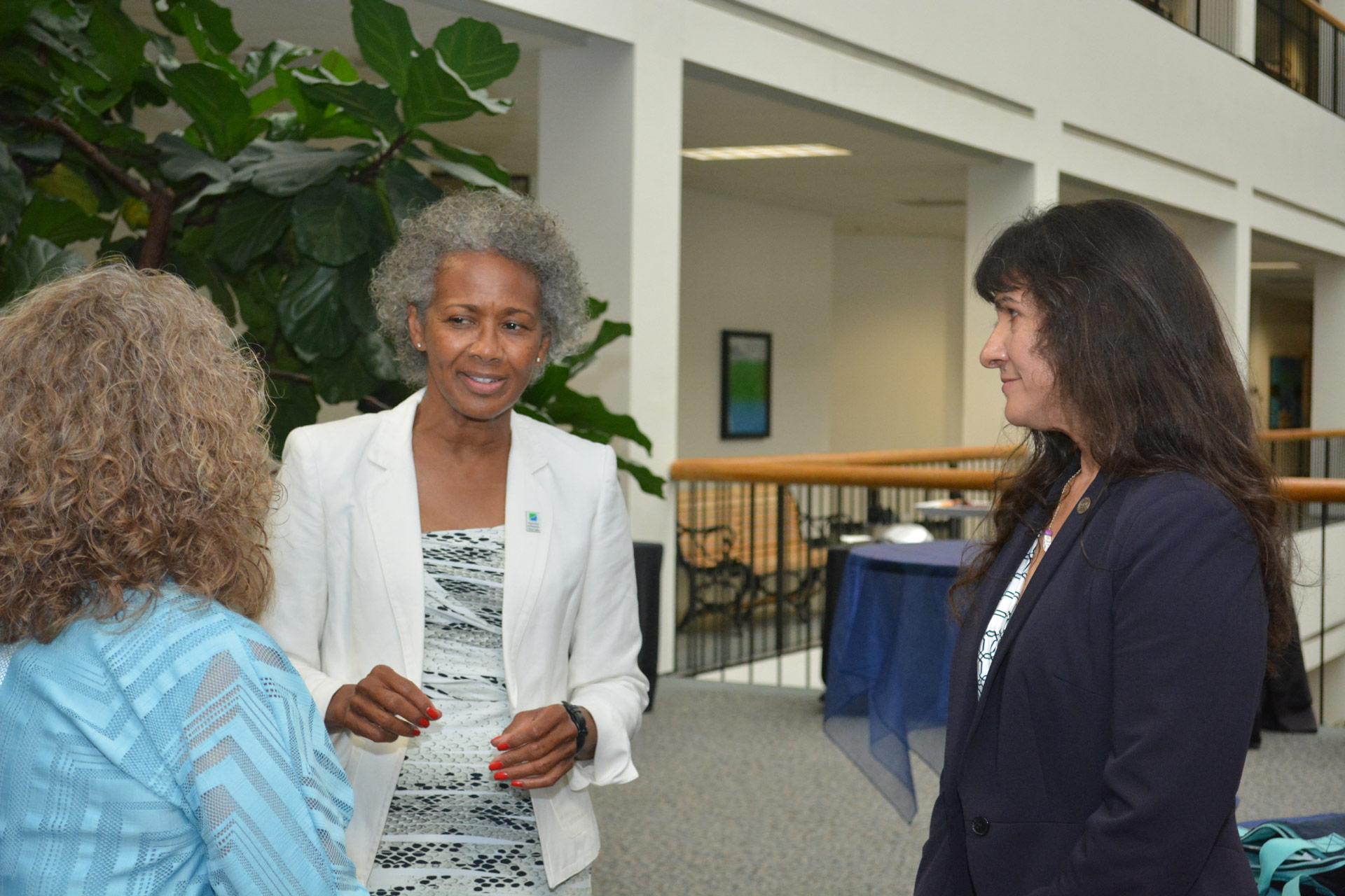 Alumni meet UHCL President Ira K. Blake