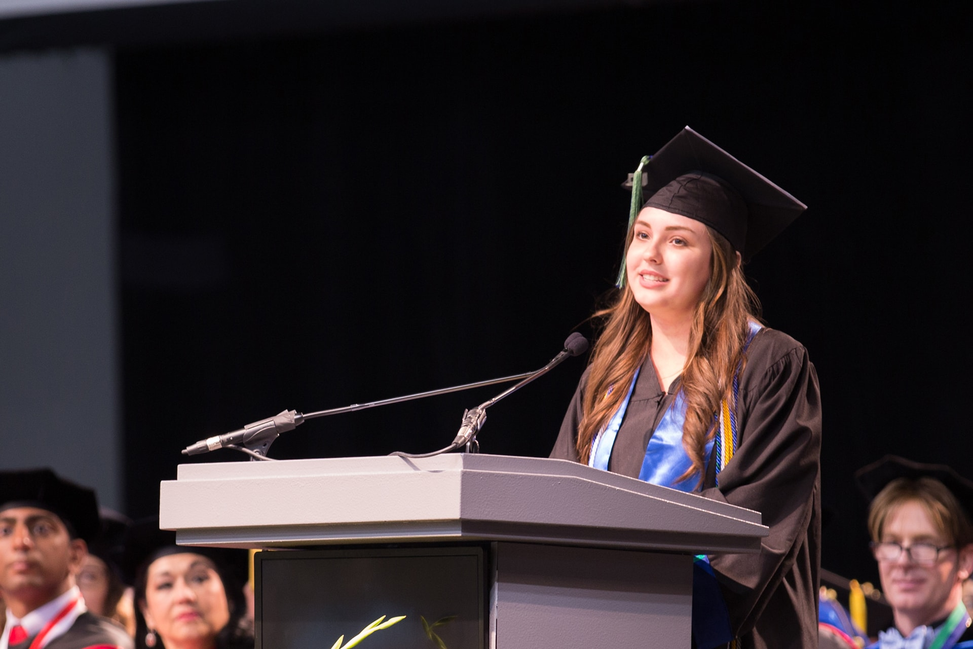 Student begins in UHCL's first freshman class, ends with diploma and job