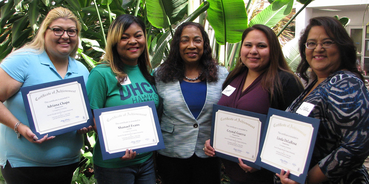 UH-Clear Lake College of Education recognizes student scholarship winners