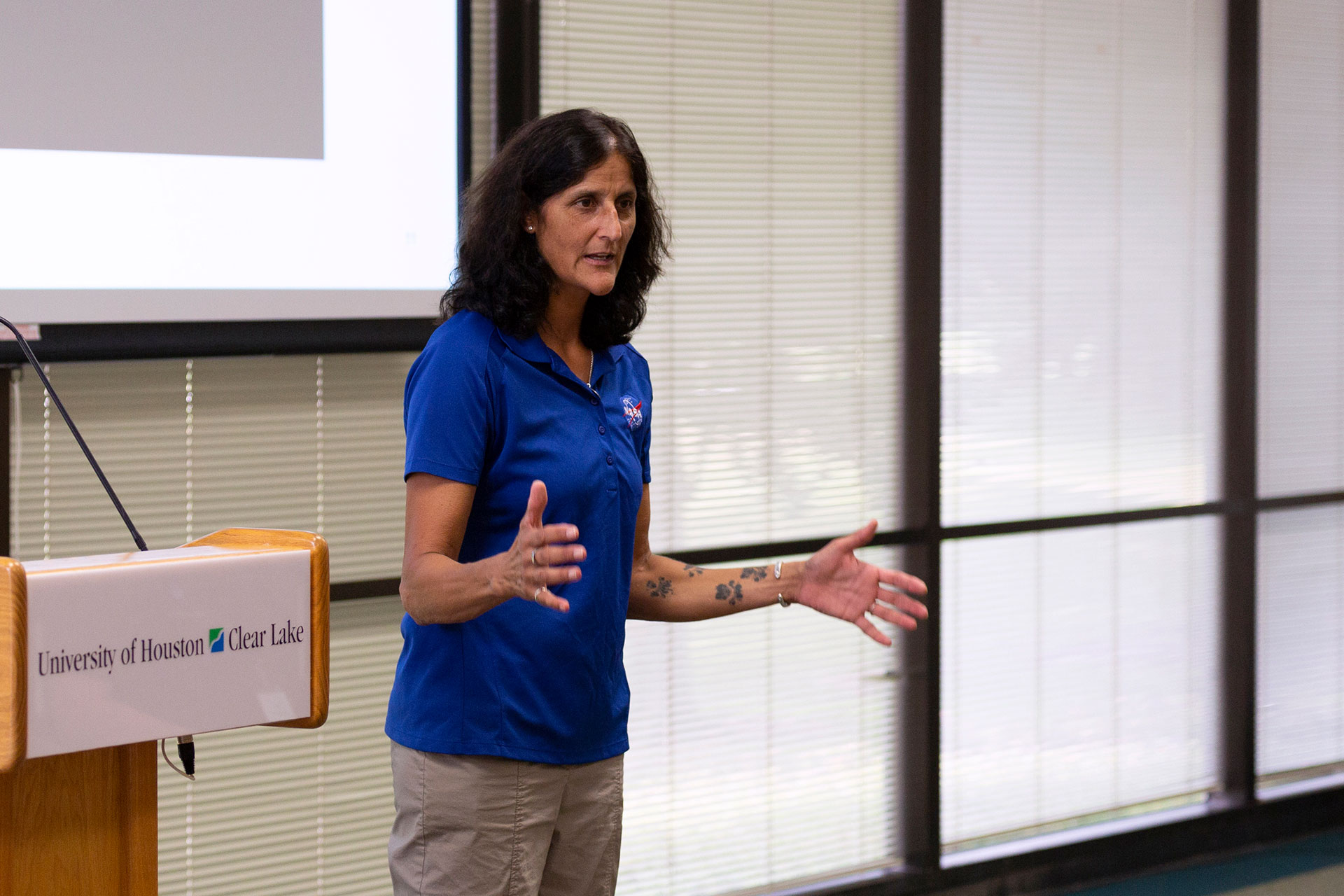 Astronaut Sunita L. Williams shares advice, experience with young students