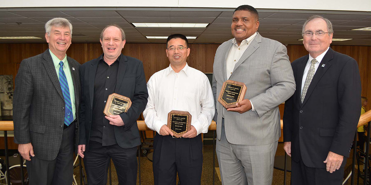 UHCL 2017 distinguished faculty awards