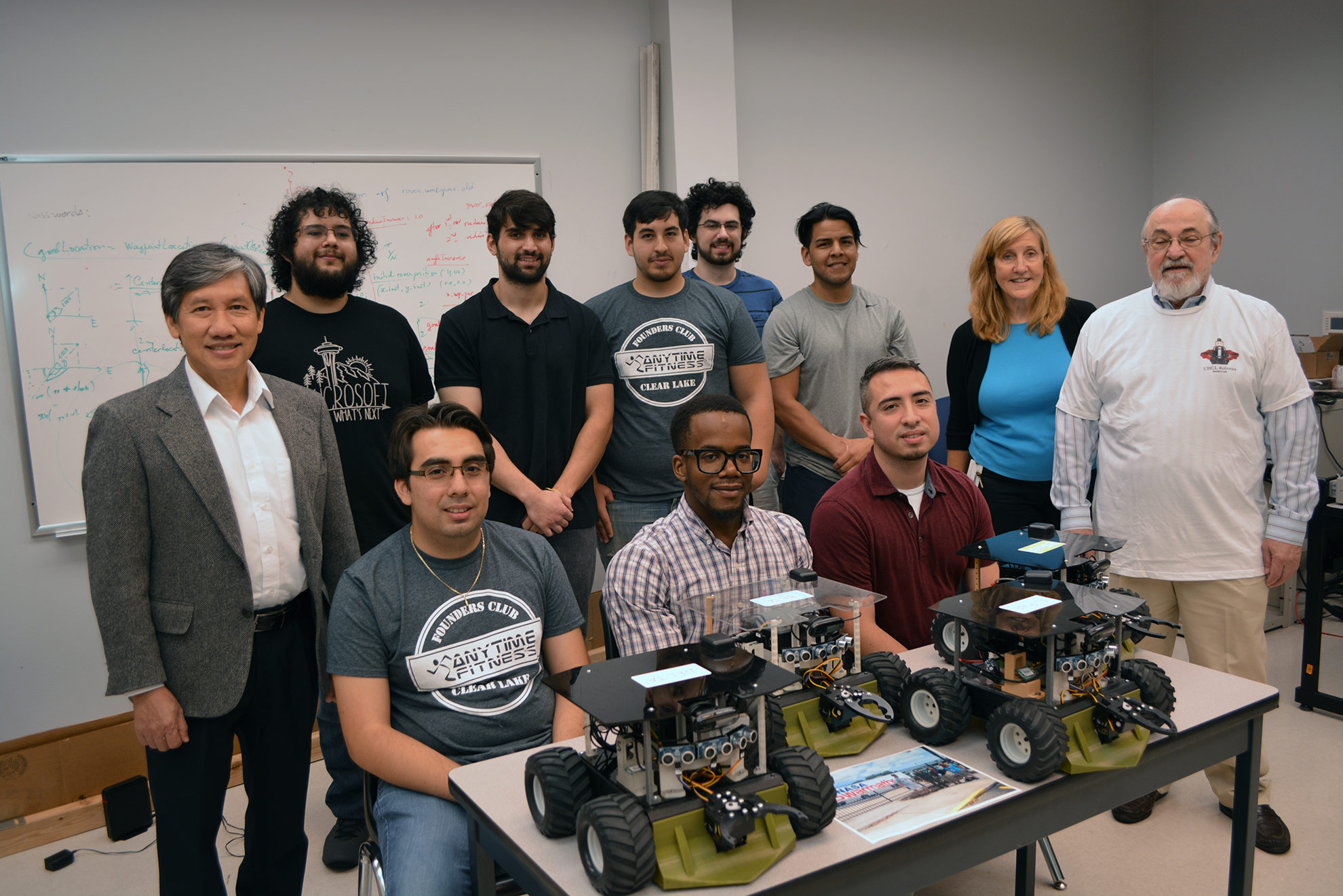 UHCL Swarmathon team pushing robotics to new frontiers