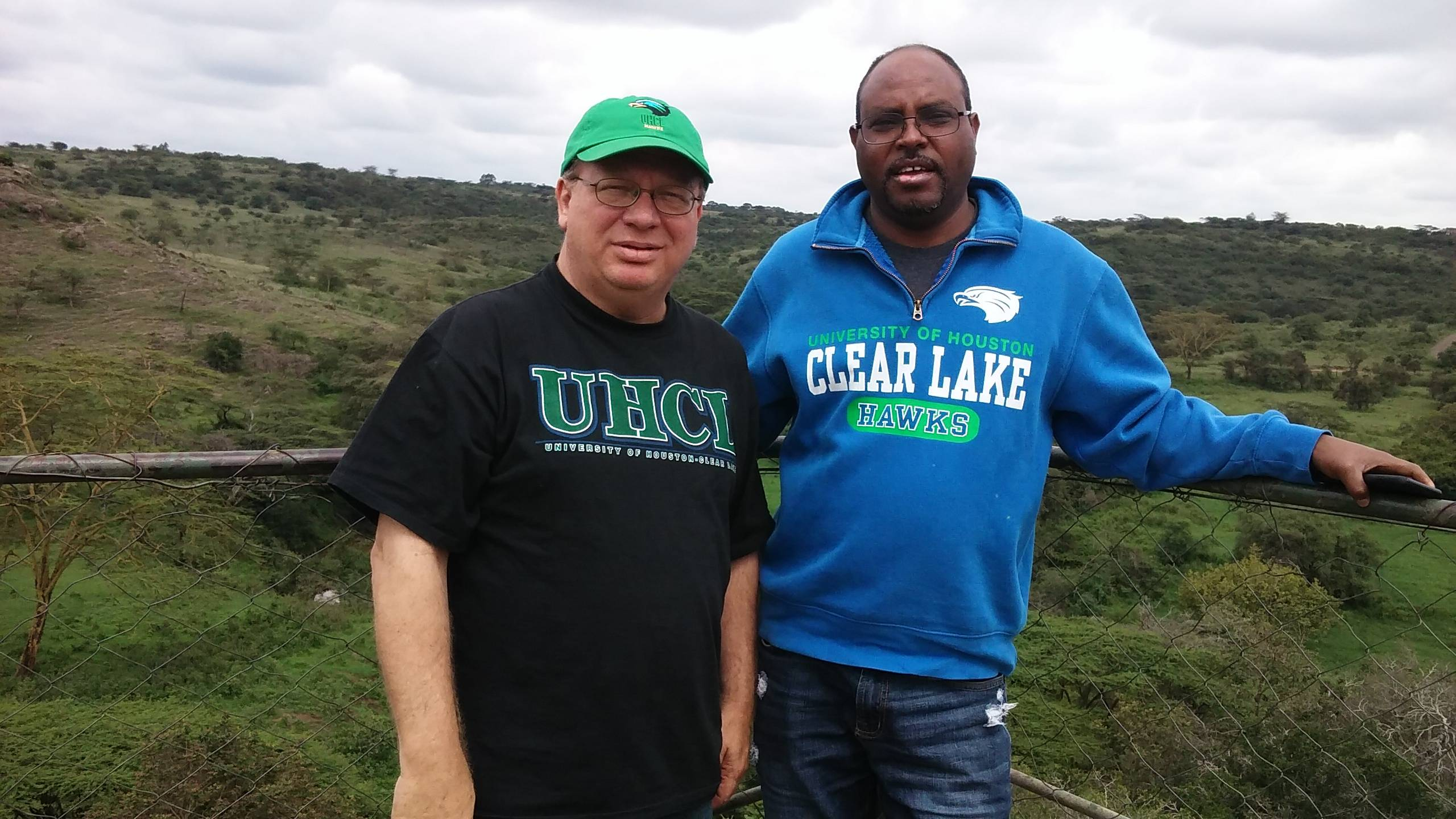 Profs McMullen and Woldu in Nairobi