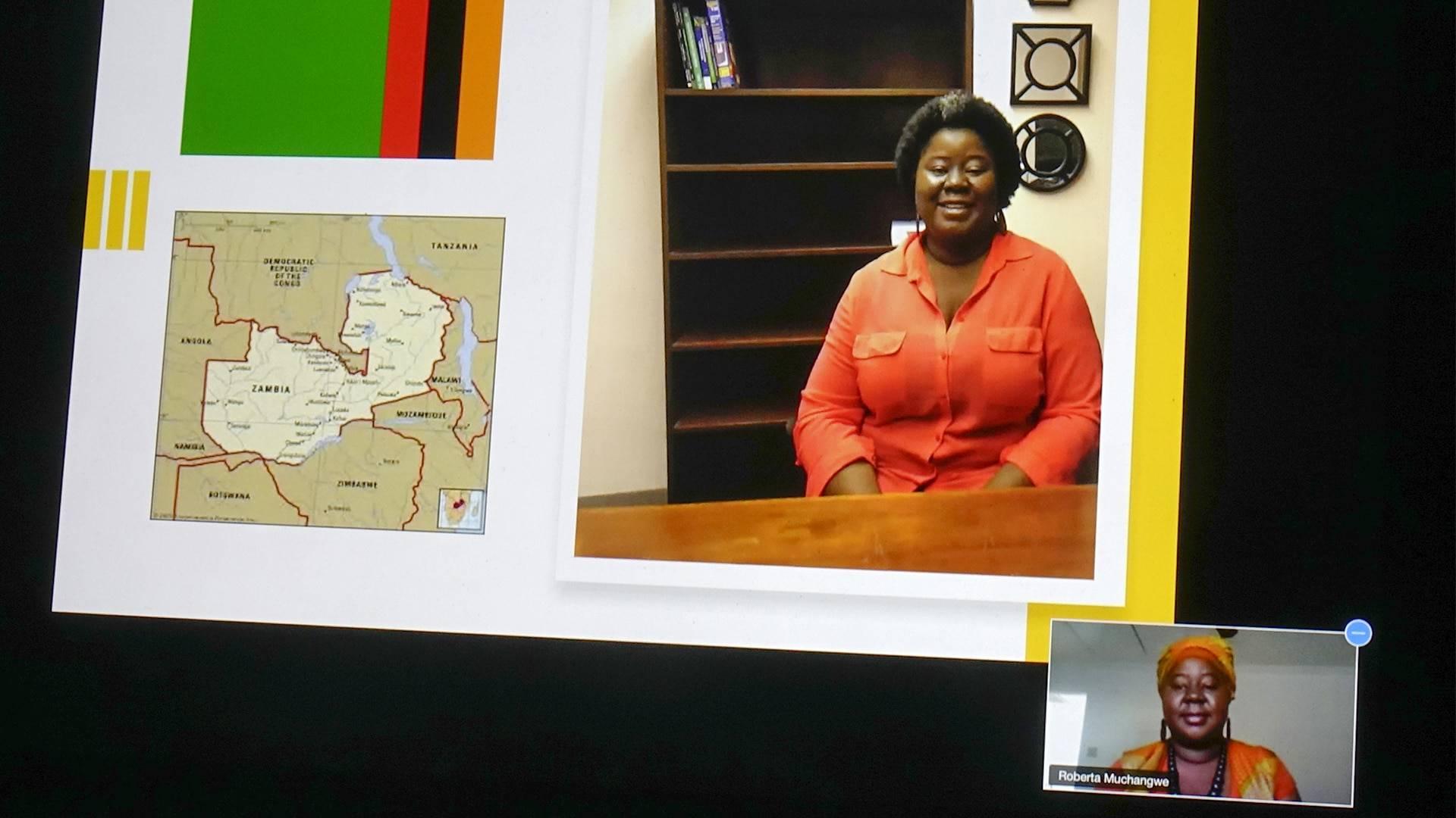 Fulbright scholar Roberta Muchangwe of Zambia
